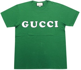 Gucci Green Cotton T-shirts