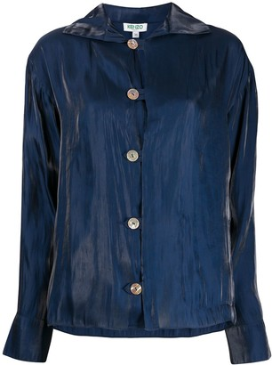 Kenzo Fluid creased buttoned shirt