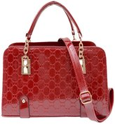 TOP SHOP BAG Top Shop Womens Alligator Candy Shinning Totes Shoulder Messenger Shell Bags Winered Handbags
