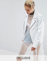 Milk It Vintage Oversized Leather Biker Jacket