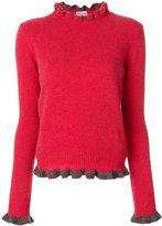 RED Valentino ruffled trim jumper - women - Virgin Wool - XS