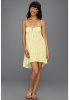 Roxy Sage Brush Dress (Acid Yellow Stripe) - Apparel