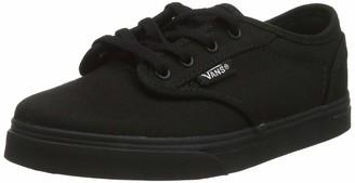 Vans Girls' Atwood Low Textile Trainers (Canvas) Black 186 12.5 (30.5 EU)