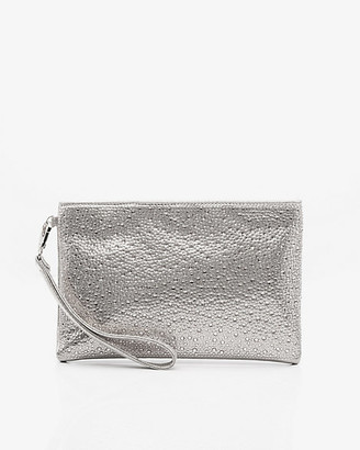 Le Château Jewel Embellished Faux Leather Pouch