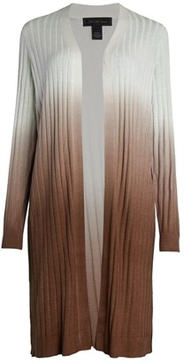 Saks Fifth Avenue COLLECTION Dip-Dye Silk Blend Cardigan