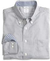 Brooks Brothers Non-Iron Slim Fit Framed Mini Check Sport Shirt