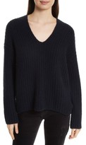 Vince Women's Deep V-Neck Cashmere Blend Sweater