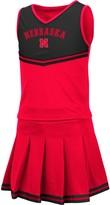 Colosseum Girls Youth Scarlet Nebraska Cornhuskers Pinky Cheer Dress