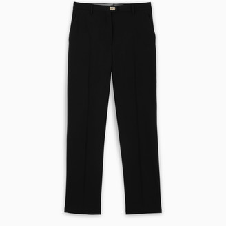 Salvatore Ferragamo Black Gancini straight trousers