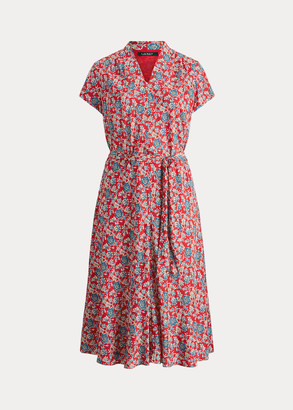 Ralph Lauren Floral Crepe Midi Dress
