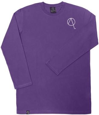 Avaider Back Logo Long Sleeve Tee - Washed Purple