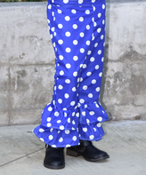 Beary Basics Royal Polka Dot Ruffle Pants - Infant Toddler & Girls