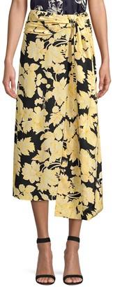 Stine Goya Lilly Floral Midi Skirt