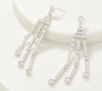TOVA Diamonique Dangle Earrings, Sterling Silver