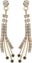 Betsey Johnson Crystal/Gold Spray Forever Brilliant Earrings