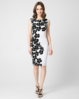 Le Château Floral Print Knit Boat Neck Dress