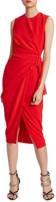 Altuzarra Ruched Belted Midi Dress