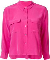 Equipment cropped signature shirt - women - Silk - S
