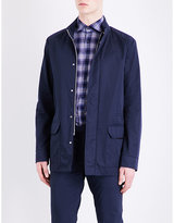 Corneliani Stand Collar Cotton-blend Parka Coat