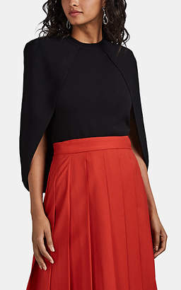 Givenchy Women's Crepe Cape Sweater - Black
