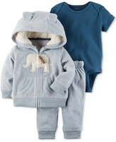 Carter's 3-Pc. Elephant Hoodie, Bodysuit & Pants Set, Baby Boys (0-24 months)