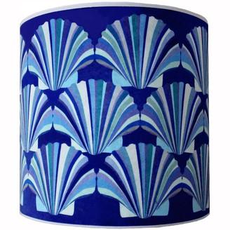 Chloe Croft Blue Shell Deco Velvet Lampshade