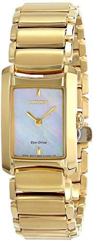 Citizen Eco-Drive Women's EG2972-58D Euphoria Analog Display Gold Watch