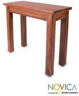 Novica Parota Wood 'San Pedrito Mission' Console Table (Mexico)