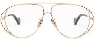 Loewe Aviator Metal Glasses - Rose Gold
