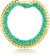 Aurelie Bidermann Do Brasil Gold and Cotton Necklace