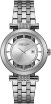 Kenneth Cole New York Women's Crystal Accent Transparent Dial Bracelet Watch