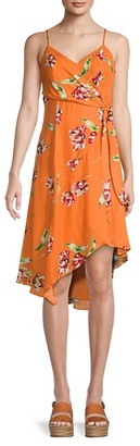 Parker Monroe Floral Wrap-Effect Dress