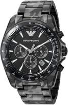 Emporio Armani Men's 'Sigma' Quartz and Stainless-Steel-Plated Casual Watch, Color: (Model: AR11027)