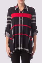 Joseph Ribkoff Plaid Patterned Shirt