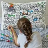 Color Your Own Dinosaur Pillowcase