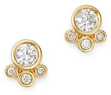 Bloomingdale's Bezel Set Diamond Stud Earrings in 14K Yellow Gold, 0.75 ct. t.w. - 100% Exclusive