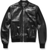 Dolce & Gabbana - Oiled-leather Bomber Jacket