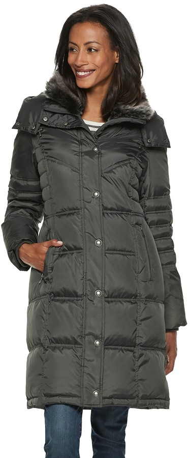 097ad012d Tower By Women's TOWER by Faux-Fur Collar Down Puffer Coat