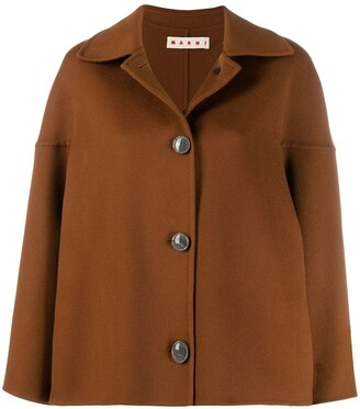Marni dropped shoulder coat