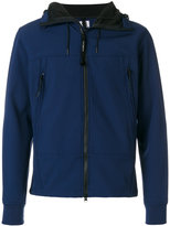 C.P. Company zipped goggle hoodie - men - Cotton/Polyamide/Polyester/Spandex/Elastane - 48