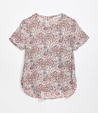 LOFT Paisley Shirttail Blouse