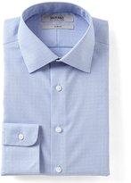 Murano Slim Fit Spread Collar Geo Houndstooth Dress Shirt