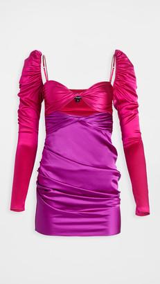 The Bar Long Sleeve Twist Top Dress