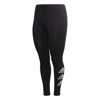 adidas Women's W Stacked Logo Cotton Tights - Inclusive Size Pants