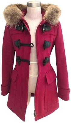 Burberry Red Fur Coats
