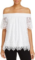 Design History Off-The-Shoulder Lace Top