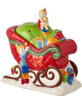 Lenox Once Upon A Xmas Sleigh Cookie Jar