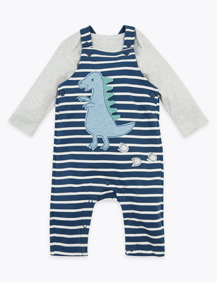 Marks and Spencer 2 Piece Dungaree Outfit (0-3 Yrs)