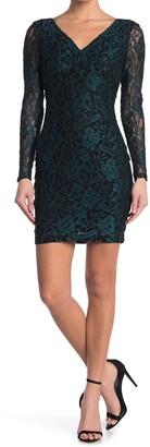 GUESS Contrast Lace Mini Dress