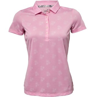 Puma Womens Burst Into Bloom Drycell Golf Polo Pink